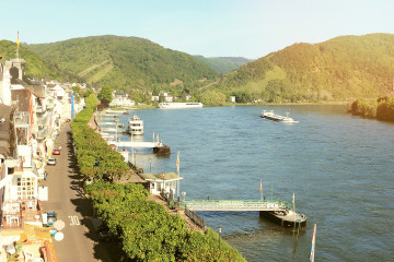 View of Boppard on the Rhine. Middle Rhine Valley - UNESCO World Heritage site.