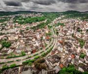 A view of Idar-Oberstein, Germany.