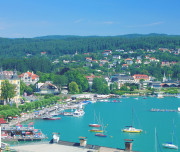 the popular Village of Velden at Lake Woerthersee,Carinthia,Austria