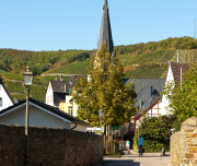Cityscape of Ahrweiler in Germany.