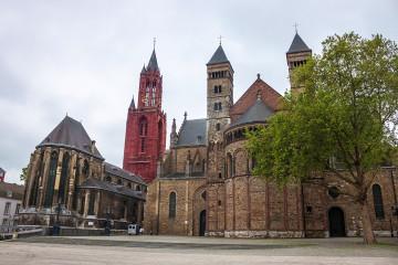 Saint Servatius basilica and Saint Johns church in Maastricht